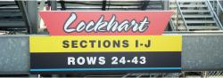 Daytona International Speedway Whole Plastic Sign-Lockhart Sections I-J Rows 24-43