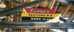 Daytona International Speedway Whole Plastic Sign-Lockhart Sections M-N Rows 14-23