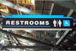Daytona International Speedway Whole Plastic Sign-Restrooms