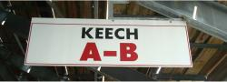 Daytona International Speedway Whole Wood Sign-Keech A-B