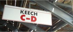 Daytona International Speedway Whole Wood Sign-Keech C-D