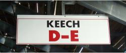 Daytona International Speedway Whole Wood Sign-Keech D-E