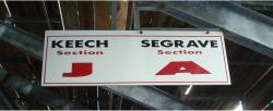 Daytona International Speedway Whole Wood Sign-Keech SectionJ/Seagrave Section A