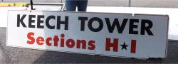 Daytona International Speedway Whole Wood Sign-Keech Tower Section H-I