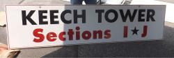 Daytona International Speedway Whole Wood Sign-Keech Tower Section I -J