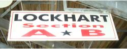 Daytona International Speedway Whole Wood Sign-Lockhart Section A & B