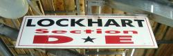 Daytona International Speedway Whole Wood Sign-Lockhart Section D & E
