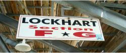 Daytona International Speedway Whole Wood Sign-Lockhart Section F & G