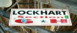 Daytona International Speedway Whole Wood Sign-Lockhart Section G & H