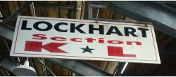 Daytona International Speedway Whole Wood Sign-Lockhart Section K & L