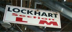 Daytona International Speedway Whole Wood Sign-Lockhart Section L-M
