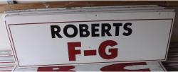 Daytona International Speedway Whole Wood Sign-Roberts F-G