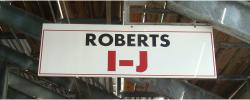 Daytona International Speedway Whole Wood Sign-Roberts I-J