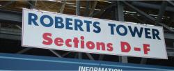 Daytona International Speedway Whole Wood Sign-Roberts Tower SectionS D-F
