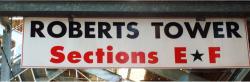Daytona International Speedway Whole Wood Sign-Roberts Tower SectionS E & F