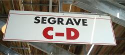 Daytona International Speedway Whole Wood Sign-Seagrave C-D