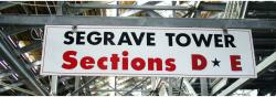 Daytona International Speedway Whole Wood Sign-Seagrave Tower Section D & E