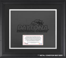 DAYTONA LOGO FRAMED SIGNAGE W/ENGRAVED &  SUB PLATE (BLACK) - Mounted Memories