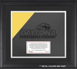 DAYTONA LOGO FRAMED SIGNAGE W/ENGRAVED &  SUB PLATE (MULTI) - Mounted Memories