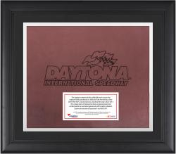 DAYTONA LOGO FRAMED SIGNAGE W/ENGRAVED &  SUB PLATE (RED) - Mounted Memories