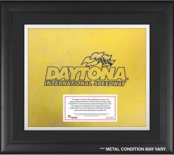 DAYTONA LOGO FRAMED SIGNAGE W/ENGRAVED & SUB PLATE (YELLOW) - Mounted Memories