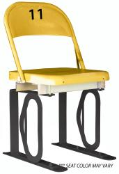 Daytona Metal Chair (#11) Black Track Bottom