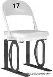 Daytona Metal Chair (#17) Black Track Bottom
