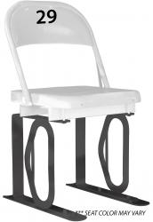 Daytona Metal Chair (#29) Black Track Bottom