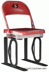 Daytona Metal Chair (#43) Black Track Bottom