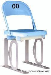 Daytona Metal Chair (blue) Silver Track Bottom