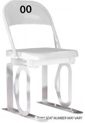 Daytona Metal Chair (white) Silver Track Bottom