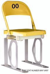 Daytona Metal Chair (yellow) Silver Track Bottom