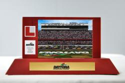Daytona International Speedway Desk Top Display Case - Mounted Memories