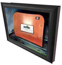 Daytona International Speedway Shadowbox with Generic Ducharm Seat - Mounted Memories