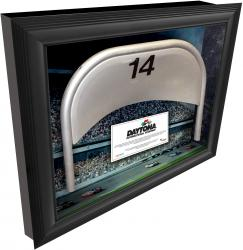 Daytona International Speedway Shadow Box with Generic Metal Seat - Mounted Memories