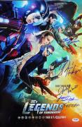 DC's Legends Of Tomorrow Cast (7) Signed 12x18 Photo PSA/DNA #AB03296