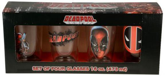 Deadpool 4 PC 16 OZ Glass Set