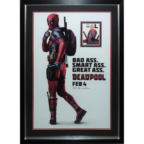 Deadpool Full-Size Movie Poster Deluxe Framed with Ryan Reynolds Autograph – JSA