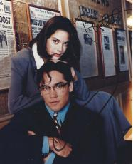 "DEAN CAIN as SUPERMAN and TERI HATCHER as LOIS LANE in the TV Series ""LOIS & CLARK: The NEW ADVENTURES of SUPERMAN"" Signed 8x10 Color Photo"