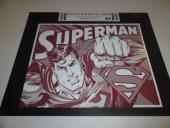 Dean Cain Signed Superman 12x16 Steel Metal Lithograph Very Rare