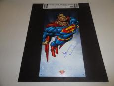 Dean Cain Signed Superman 16x8 Steel Metal Lithograph Very Rare