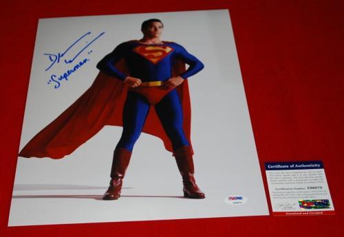 DEAN CAIN superman clark kent signed PSA/DNA 11X14 photo proof