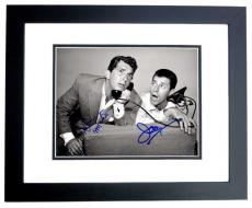 Dean Martin and Jerry Lewis Signed - Autographed Martin and Lewis Comedy Duo 8x10 inch Photo - BLACK CUSTOM FRAME - Both Deceased - Guaranteed to pass PSA/DNA or JSA