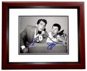 Dean Martin and Jerry Lewis Signed - Autographed Martin and Lewis Comedy Duo 8x10 inch Photo - MAHOGANY CUSTOM FRAME - Both Deceased - Guaranteed to pass PSA/DNA or JSA