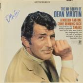 Dean Martin Autographed The Hit Sound Of Dean Martin Album Cover - PSA/DNA LOA