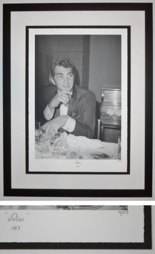 """Dean Martin """"DINO 1963"""" Limited Edition (only 275) Giclee Lithograph Photo - Black FRAME 32x24 inches - Custom FRAMED - Guaranteed to pass PSA or JSA"""