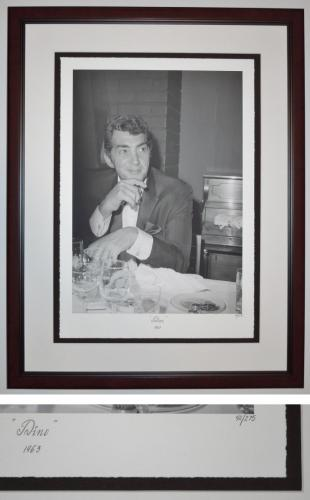 """Dean Martin """"DINO 1963"""" Limited Edition (only 275) Giclee Lithograph Photo - MAHOGANY FRAME 32x24 inches - Custom FRAMED - Guaranteed to pass PSA or JSA"""