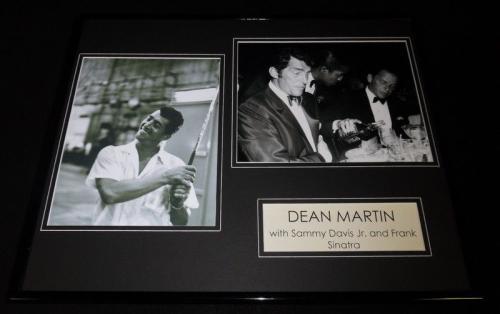 Dean Martin Framed 16x20 Photo Display Golfing & Drinking w/ Rat Pack