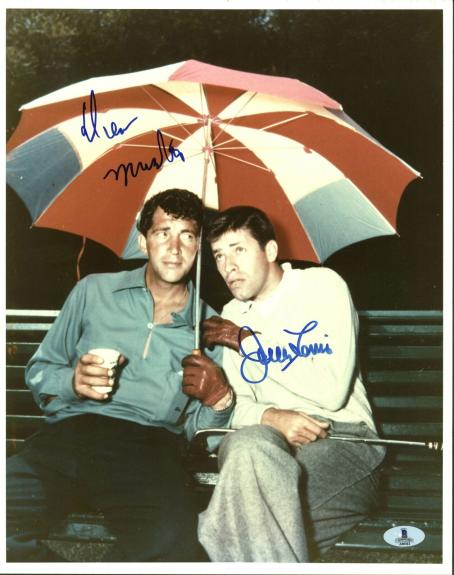 Dean Martin & Jerry Lewis Signed 11X14 Photo Autographed BAS #A00361