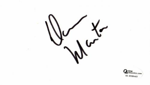 Dean Martin Signed - Autographed 3x5 inch Index Card - Online Authentics Authenticity Sticker OA, not PSA or JSA- Deceased 1995 - The Rat Pack Singer-Actor
